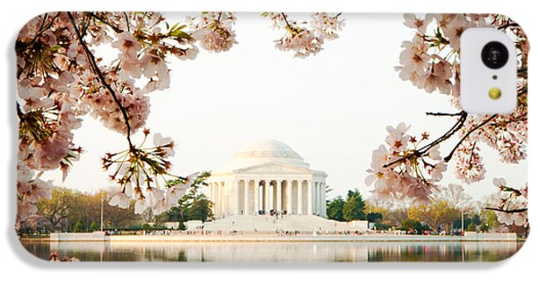 Jefferson Memorial With Reflection And Cherry Blossoms IPhone 5c Case by Susan Schmitz