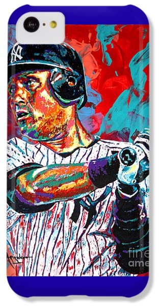 Jeter At Bat IPhone 5c Case by Maria Arango