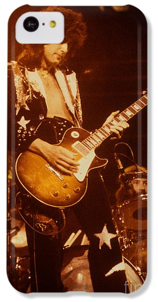 Jimmy Page 1975 IPhone 5c Case by David Plastik