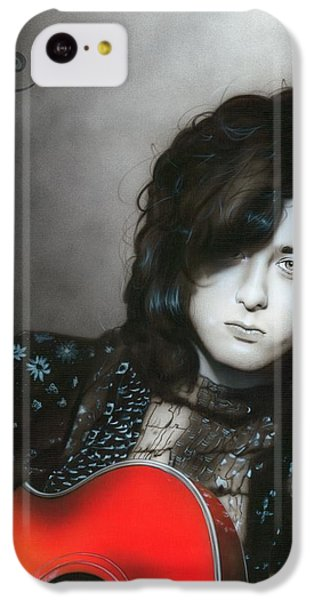 ' Jimmy Page ' IPhone 5c Case by Christian Chapman Art