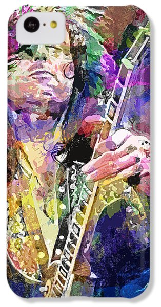 Jimmy Page Electric IPhone 5c Case by David Lloyd Glover