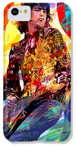 Jimmy Page Leds Lead IPhone 5c Case by David Lloyd Glover