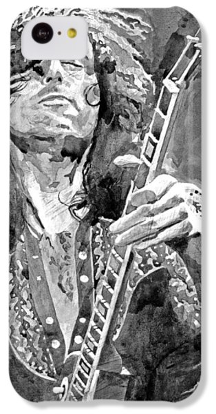 Jimmy Page Mono IPhone 5c Case by David Lloyd Glover
