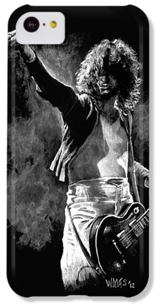 Jimmy Page IPhone 5c Case by William Walts