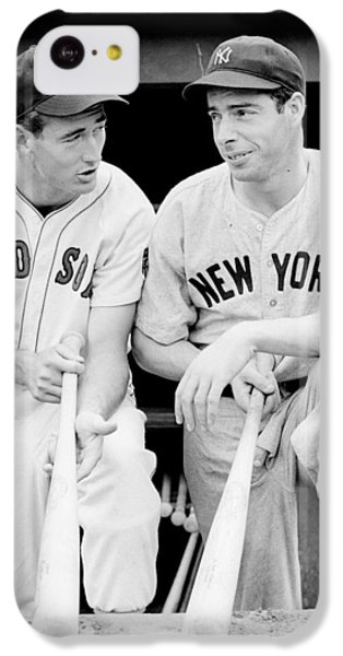 Joe Dimaggio And Ted Williams IPhone 5c Case by Gianfranco Weiss
