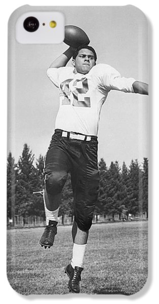 Joe Francis Throwing Football IPhone 5c Case by Underwood Archives