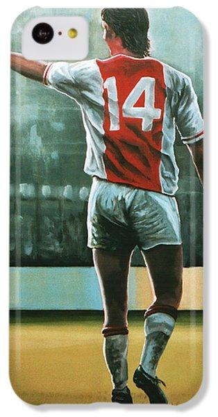 Johan Cruijff Nr 14 Painting IPhone 5c Case by Paul Meijering