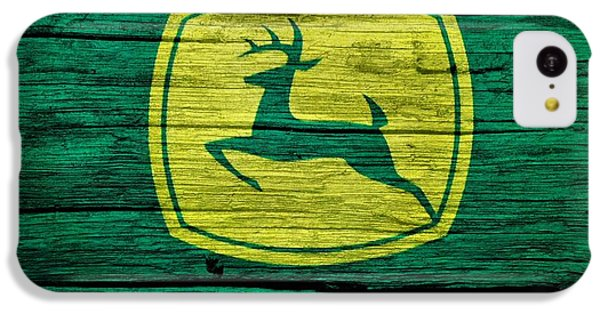 John Deere Barn Door IPhone 5c Case by Dan Sproul