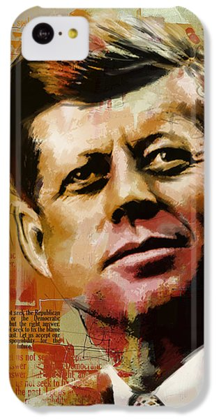 John F. Kennedy IPhone 5c Case by Corporate Art Task Force