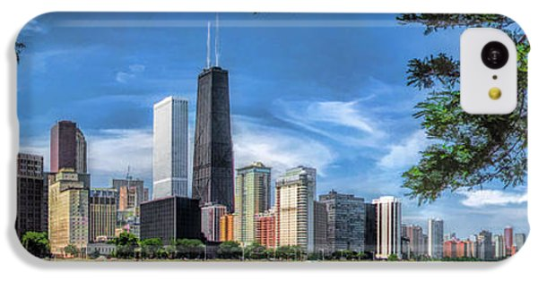 John Hancock Chicago Skyline Panorama IPhone 5c Case by Christopher Arndt