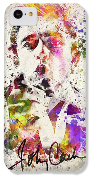 Johnny Cash  IPhone 5c Case by Aged Pixel