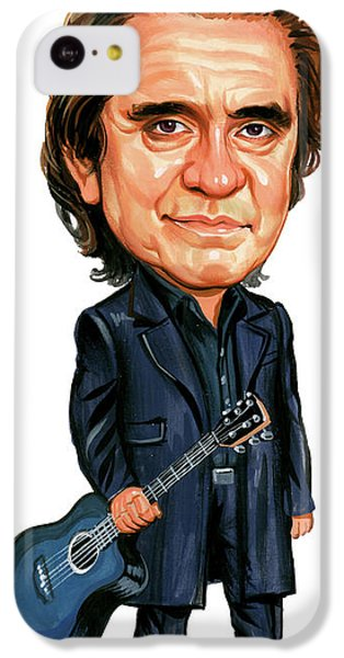Johnny Cash IPhone 5c Case by Art