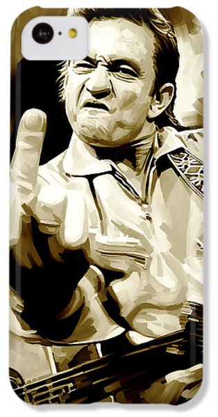 Johnny Cash Artwork 2 IPhone 5c Case by Sheraz A