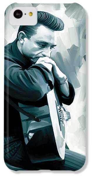 Johnny Cash Artwork 3 IPhone 5c Case by Sheraz A