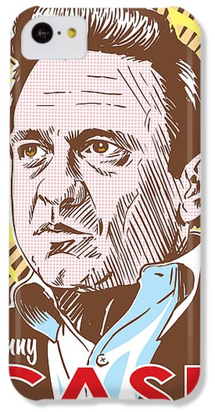 Johnny Cash Pop Art IPhone 5c Case by Jim Zahniser