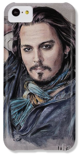 Johnny Depp IPhone 5c Case by Melanie D