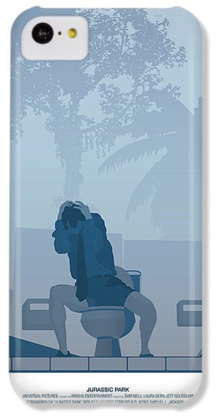 Jurassic Park Poster - Feat. Gennaro IPhone 5c Case by Peter Cassidy