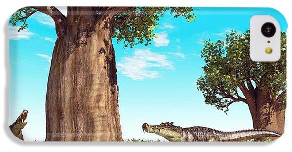 Kaprosuchus Prehistoric Crocodiles IPhone 5c Case by Walter Myers