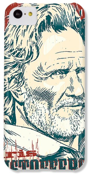Kris Kristofferson Pop Art IPhone 5c Case by Jim Zahniser