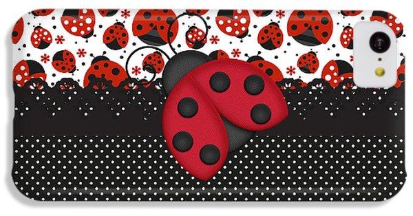 Ladybug Mood  IPhone 5c Case by Debra  Miller