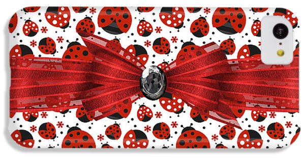 Ladybug Obsession  IPhone 5c Case by Debra  Miller