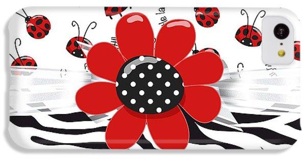 Ladybug Wild Thing IPhone 5c Case by Debra  Miller
