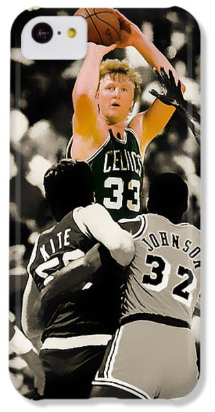 Larry Bird IPhone 5c Case by Brian Reaves