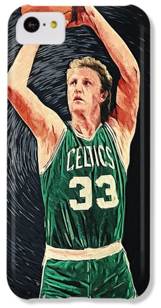 Larry Bird IPhone 5c Case by Taylan Apukovska
