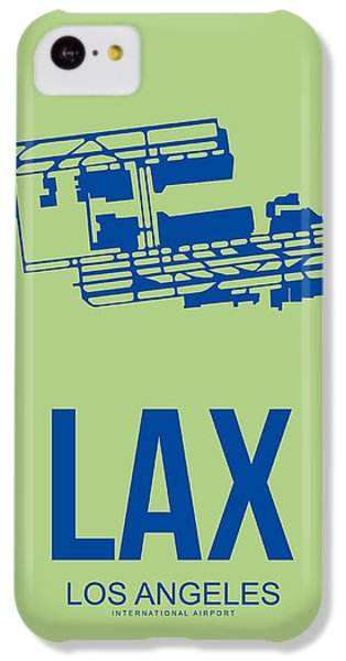 Lax Airport Poster 1 IPhone 5c Case by Naxart Studio