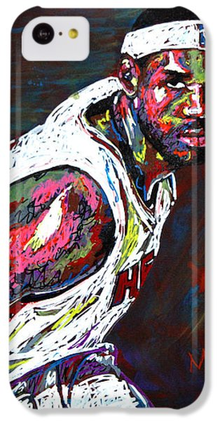 Lebron James 2 IPhone 5c Case by Maria Arango