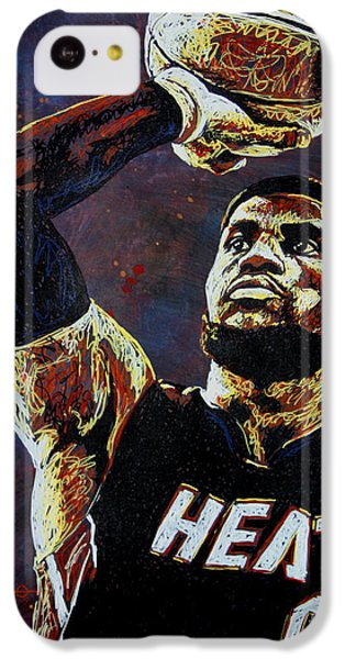 Lebron James Mvp IPhone 5c Case by Maria Arango