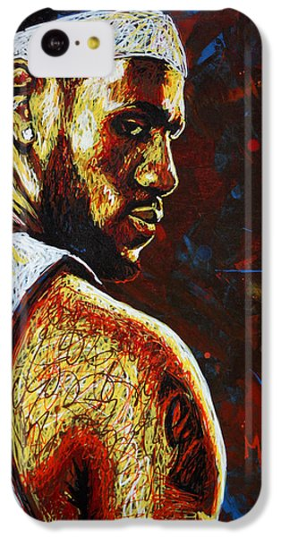 Lebron  IPhone 5c Case by Maria Arango