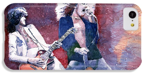 Led Zeppelin Jimmi Page And Robert Plant  IPhone 5c Case by Yuriy  Shevchuk