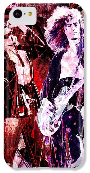 Led Zeppelin - Jimmy Page And Robert Plant IPhone 5c Case by Ryan Rock Artist
