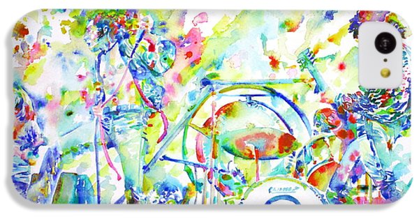 Led Zeppelin Live Concert - Watercolor Painting IPhone 5c Case by Fabrizio Cassetta