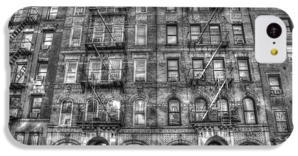 Led Zeppelin Physical Graffiti Building In Black And White IPhone 5c Case by Randy Aveille