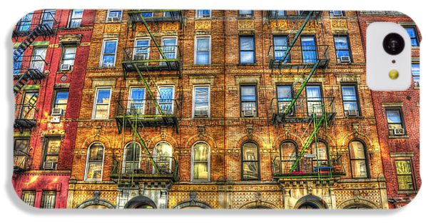 Led Zeppelin Physical Graffiti Building In Color IPhone 5c Case by Randy Aveille