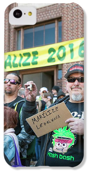 Legalisation Of Marijuana Rally IPhone 5c Case by Jim West