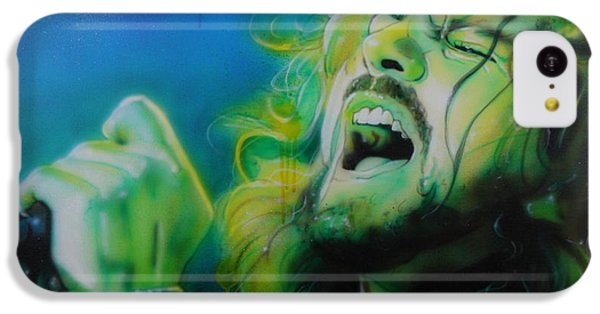 Eddie Vedder - ' Lemon Yellow Sun ' IPhone 5c Case by Christian Chapman Art