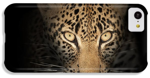 Leopard In The Dark IPhone 5c Case by Johan Swanepoel