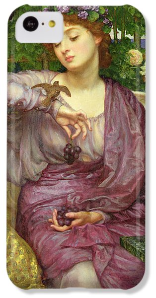 Lesbia And Her Sparrow IPhone 5c Case by Sir Edward John Poynter