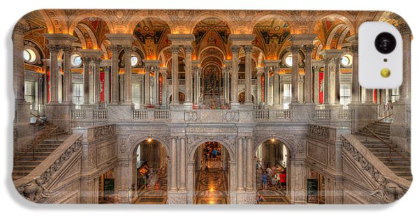 Library Of Congress IPhone 5c Case by Steve Gadomski