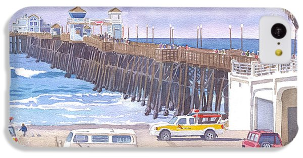 Lifeguard Trucks At Oceanside Pier IPhone 5c Case by Mary Helmreich