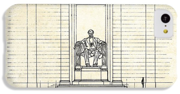 Lincoln Memorial Sketch IPhone 5c Case by Gary Bodnar