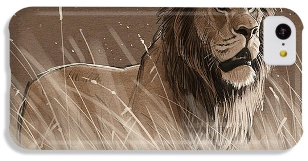 Lion In The Grass IPhone 5c Case by Aaron Blaise