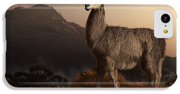 Llama Dawn IPhone 5c Case by Daniel Eskridge