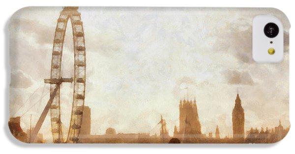 London Skyline At Dusk 01 IPhone 5c Case by Pixel  Chimp