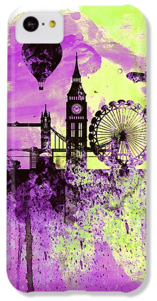 London Skyline Watercolor 1 IPhone 5c Case by Naxart Studio