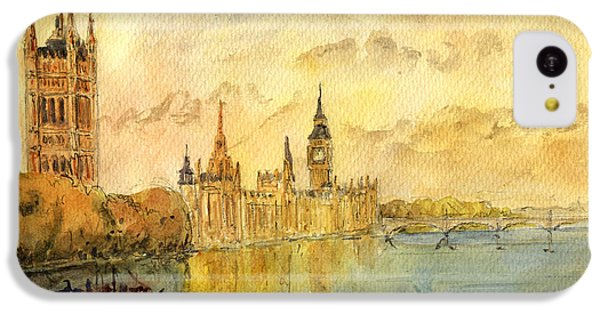 London Thames River IPhone 5c Case by Juan  Bosco