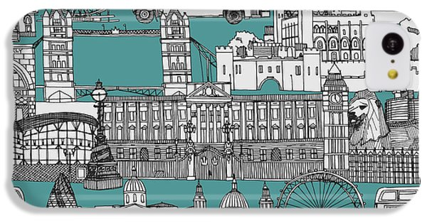 London Toile Blue IPhone 5c Case by Sharon Turner